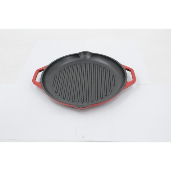 Cast Iron ROUND Grill Pan D=26