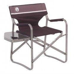 Coleman Aluminum DECK CHAIR WTH TABLE BLACK H.UP TO 102.1 KG 20020293)