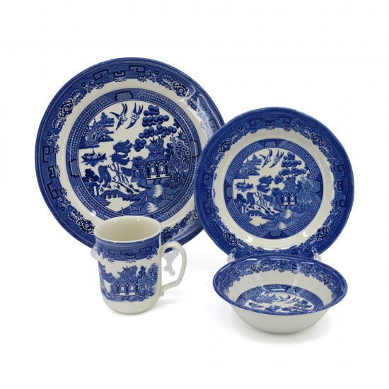 SILVERDALE 16PC DINNER SET WILLOW BLUE