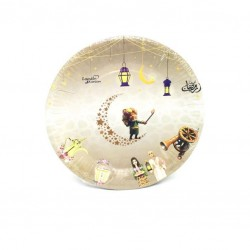 A set of paper plates Ramadan drawings 48 pieces