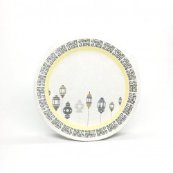 A set of large paper plates, 48 pieces of Ramadan drawings