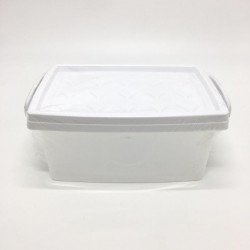 A large plastic box with a lid