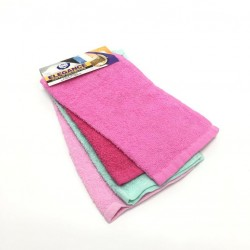 A set of 4 pieces of cotton towels