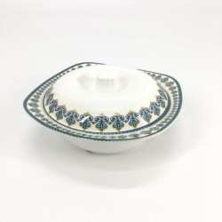 Soup bowl with melamine cover