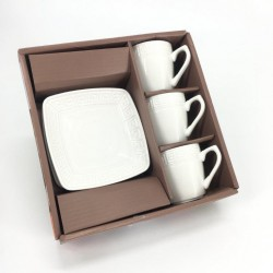 Set of 3 cups with 3 saucers
