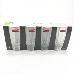 Glass cup set 4 pieces 310 ml