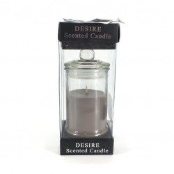 A coffee-scented candle